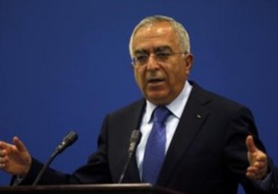 Palestinian Authority Prime Minister Salam Fayyad