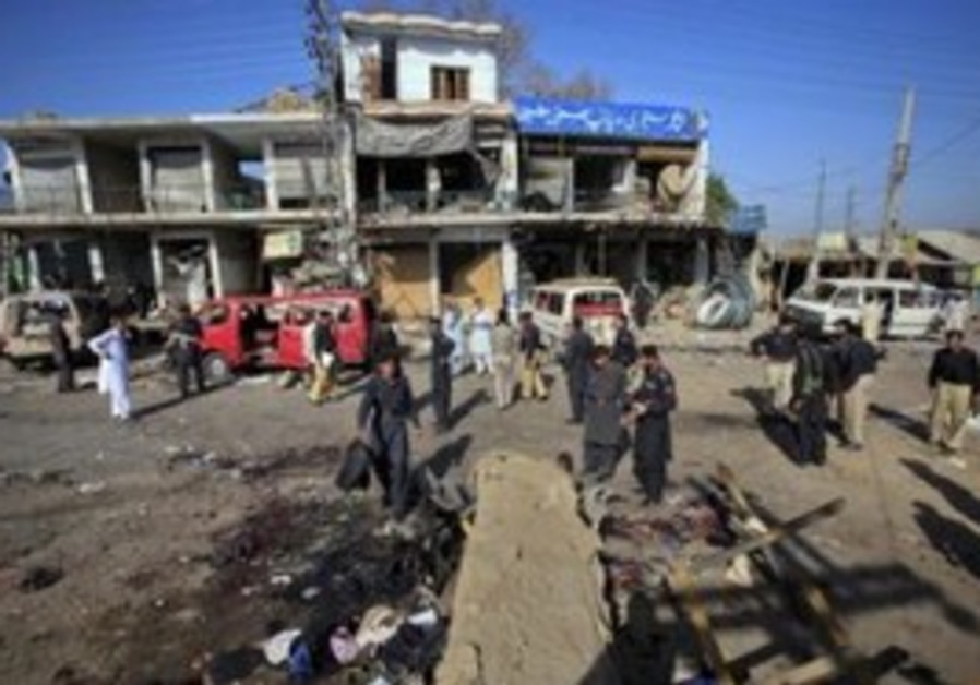 Site of the Taliban suicide bombing, Charsadda.