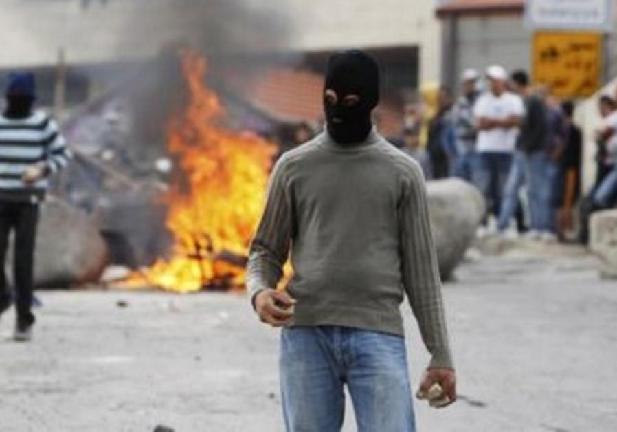 Palestinians demonstrate on Nakba Day.