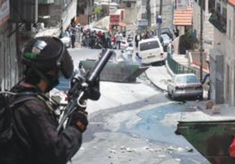 Police in east Jerusalem on 'Nakba Day'