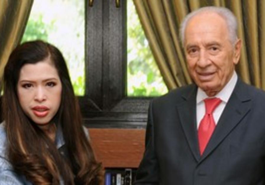 Thai Princess Chulabhorn Mahidol and Shimon Peres.