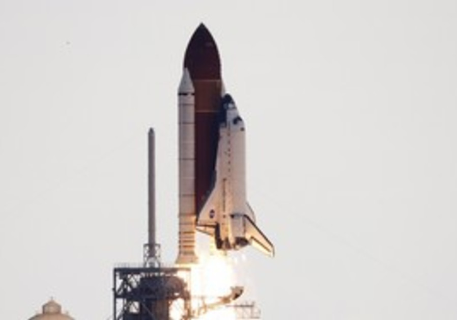 The Endeavour lifts off from Cape Canaveral