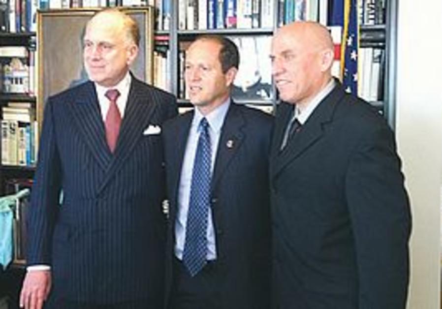Ron Lauder, Nir Barkat and Yossi Warshavsky