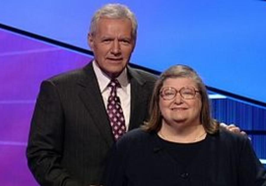 Rabbi Joyce Newmark and Jeopardy host Alex Trebek