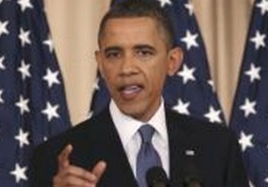 Us President Barack Obama gives speech