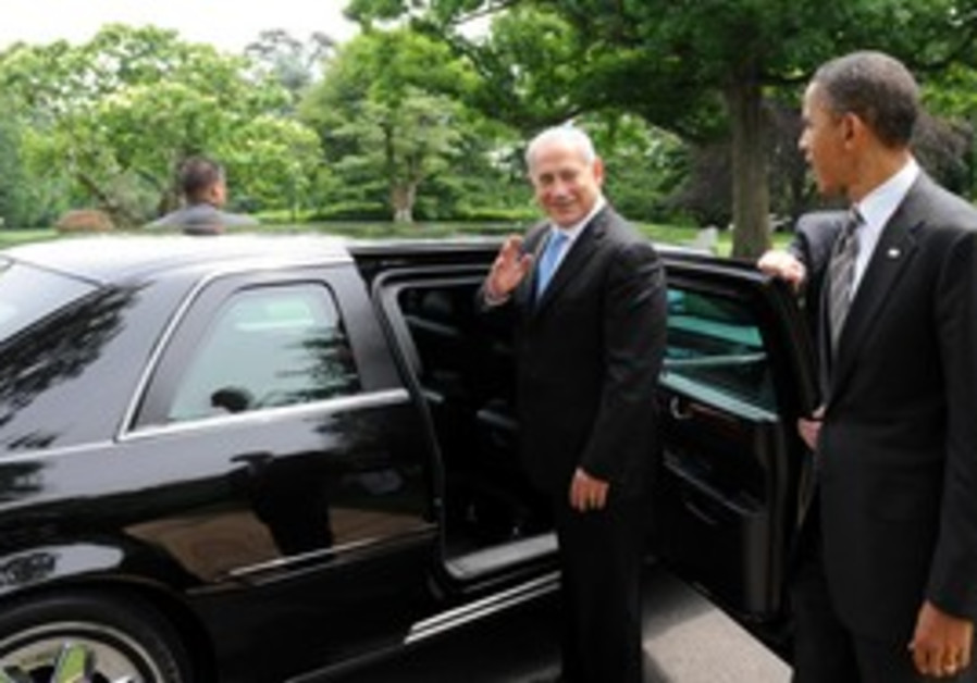 PM Netanyahu saying bye to US President Obama