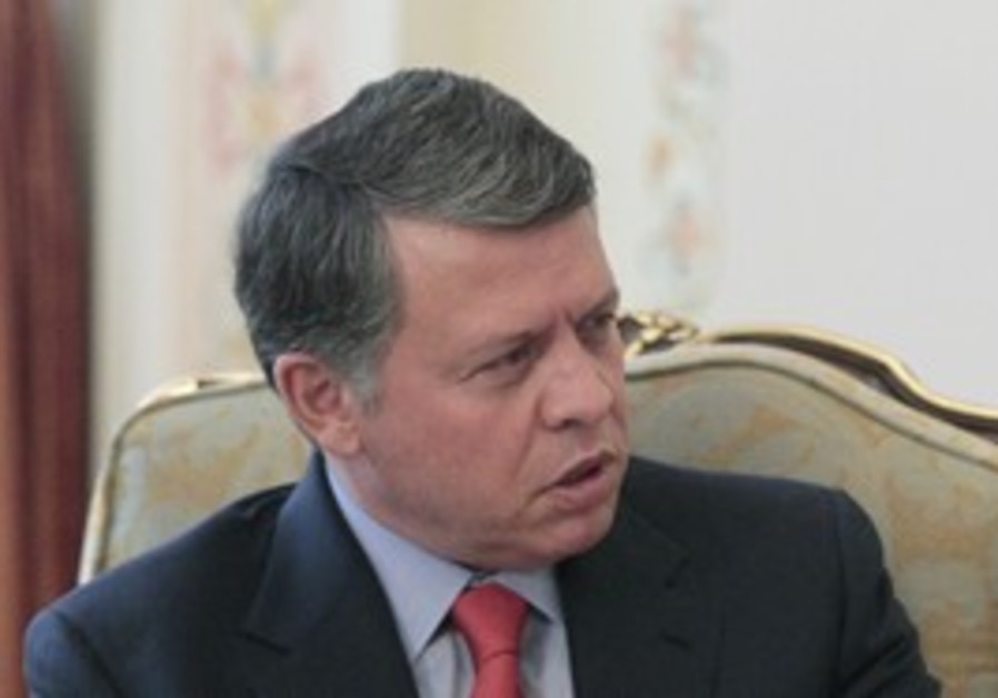 Jordan's King Abdullah in Moscow, April 2011.