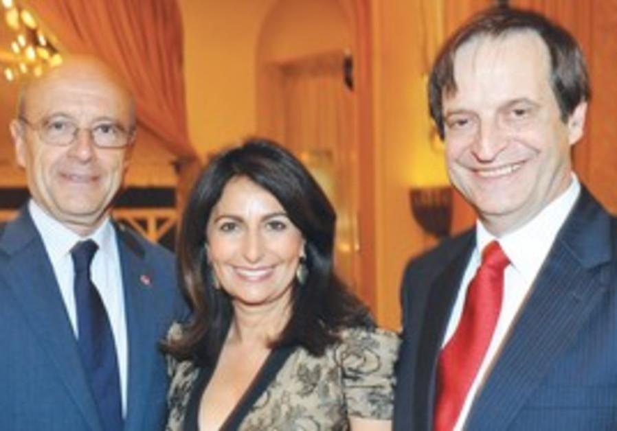 VALERIE HOFFENBERG with Alain Juppé, Dan Meridor
