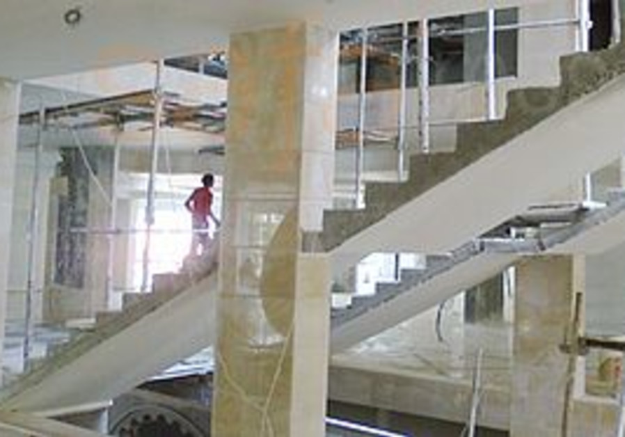 WORK IS ALMOST complete on Gaza's new mall.