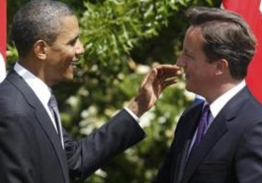 Barack Obama and British PM David Cameron
