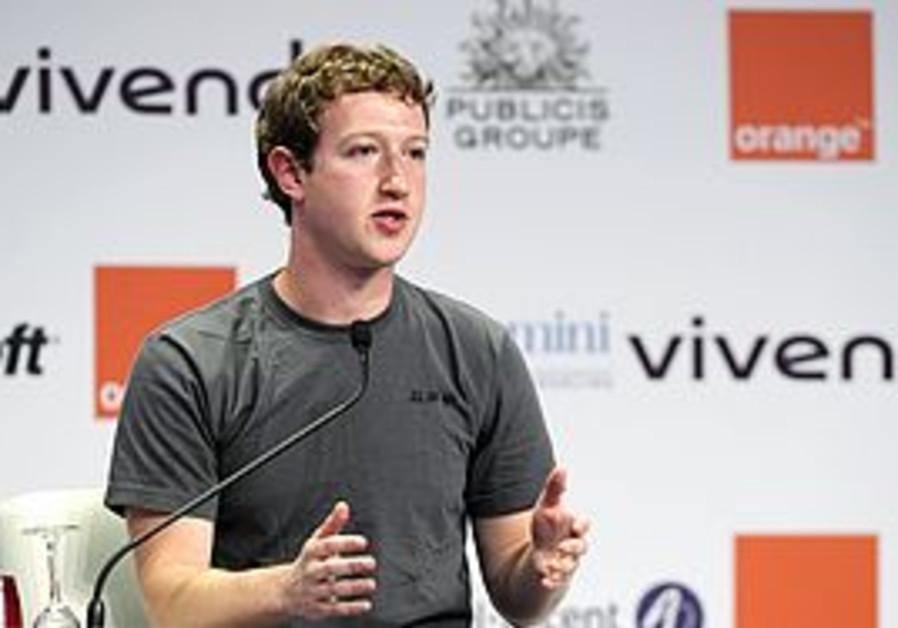 Facebook founder Mark Zuckerberg at eG8 forum