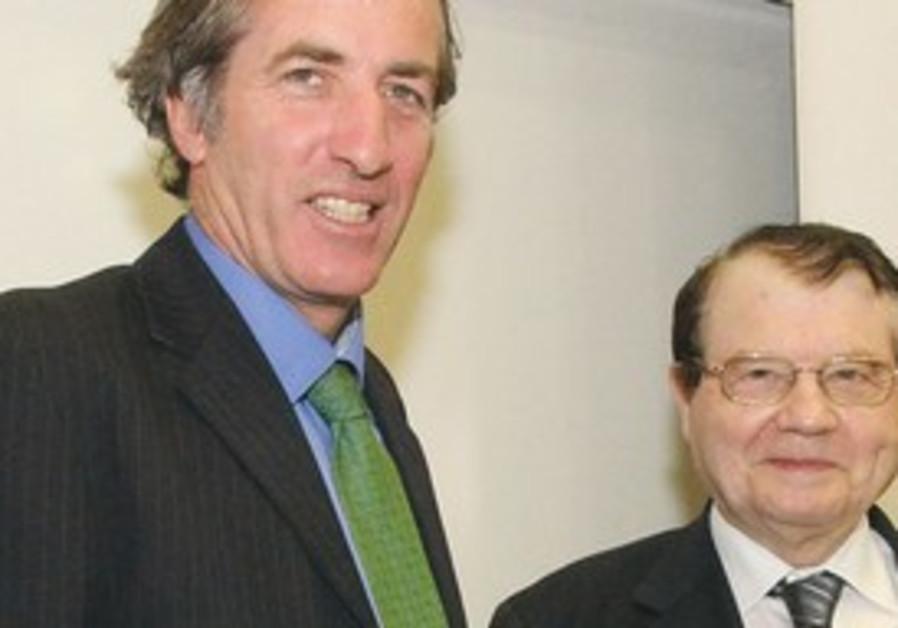 Christophe Bigot (L) and Prof. Luc A. Montagnier.