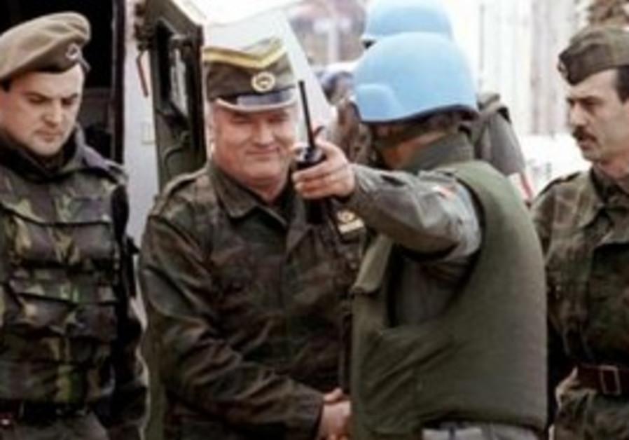 Bosnian Serb army commander General Ratko Mladic