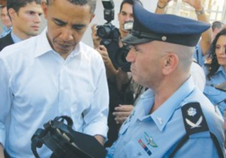 Bar Lev shows Obama Kassam