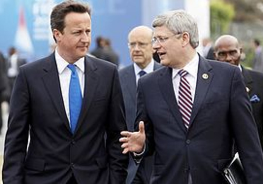 Canada PM Harper with British PM Cameron