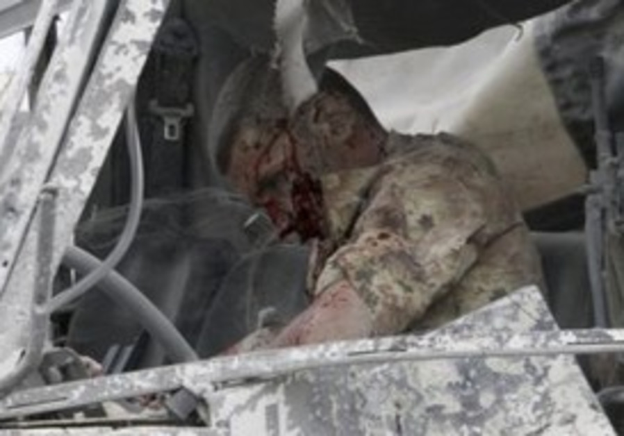 Wounded Italian UN soldier near Lebanese border