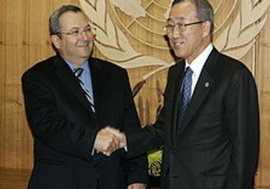 Barak meets with UN Chief in New York