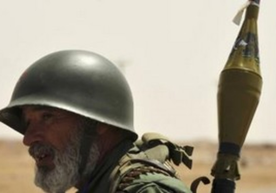 Libyan rebel with RPG
