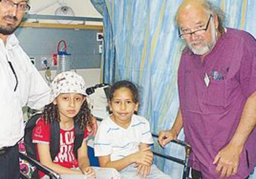 Injured children with Dr. Ben Dov