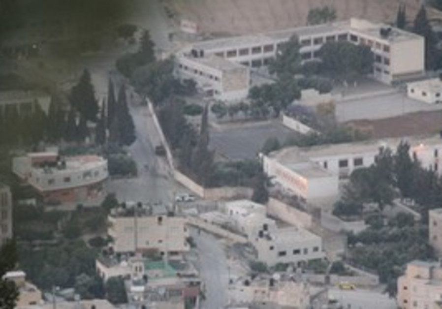 Birds eye view of Josephs Tomb in Nablus
