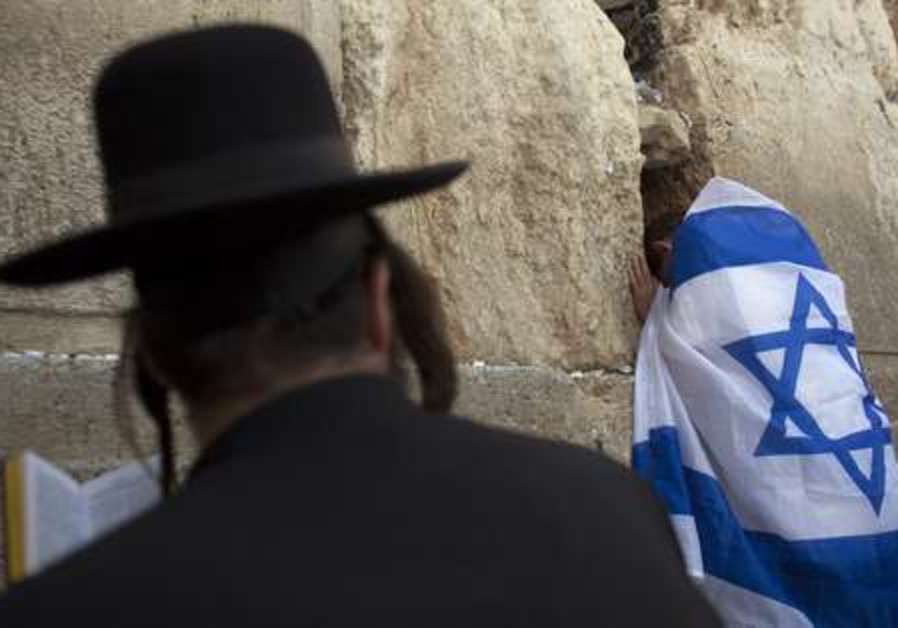 Praying at the Western Wall on Jerusalem Day