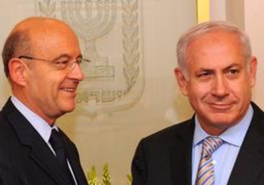 PM Netanyahu and French FM Juppe
