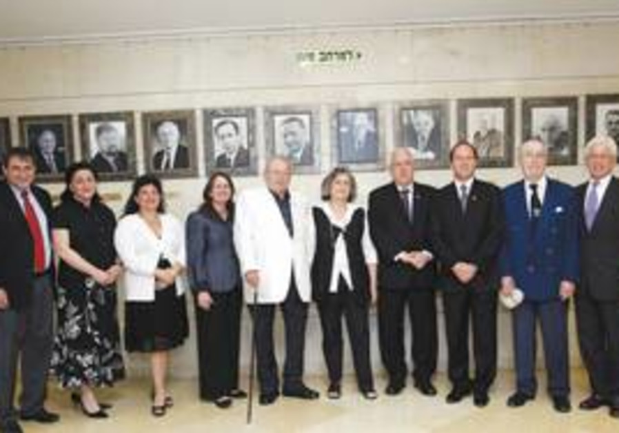 Honorees at the Knesset.