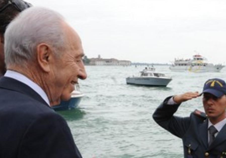 President Shimon Peres in Venice
