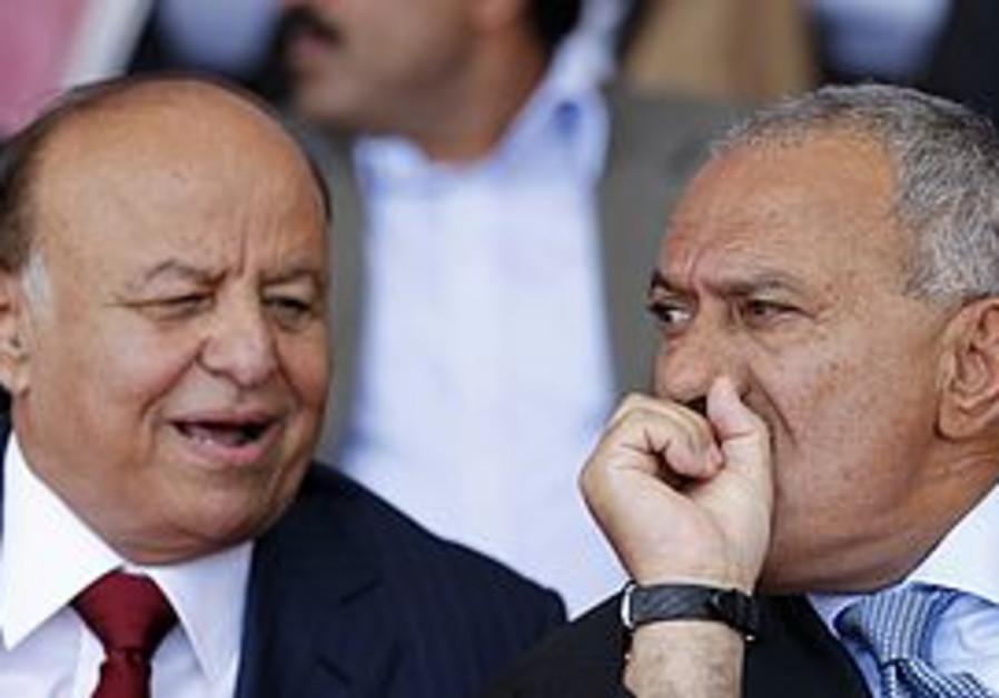Abd-Rabbu Mansour Hadi with Ali Abdullah Saleh