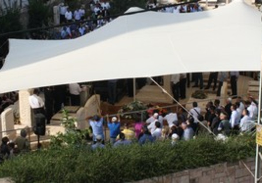 The funeral of Sammy Ofer held in TA.