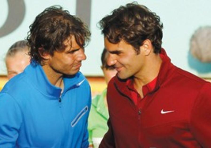 Rafa and Roger after Roland Garros final