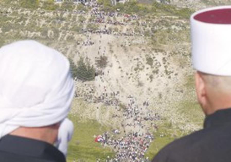Golan Druse in Majdal Shams watch Sunday's brawls.