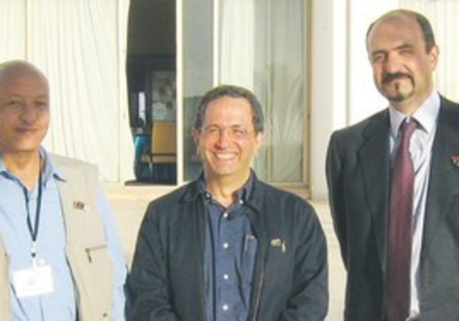 Dr. David Gerbi (center) in Benghazi, Libya.