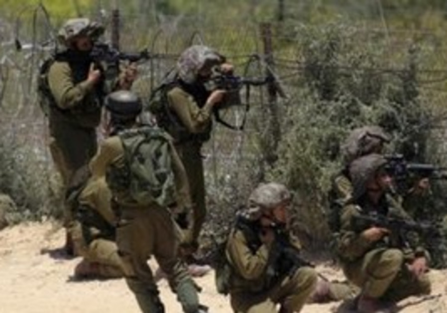 IDF soldiers at Syrian border on Naksa Day