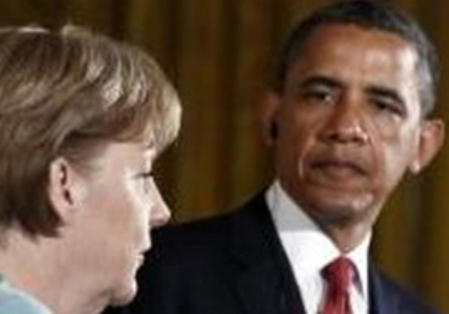 US President Obama and German Chancellor Merkel