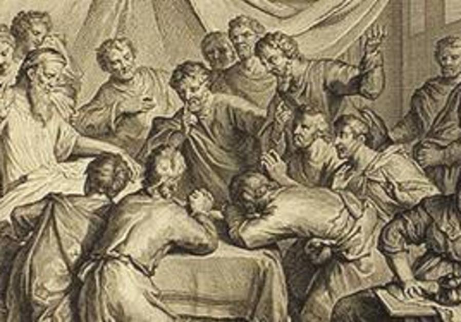 JACOB BLESSES his sons - 1728 'Figures de la Bible