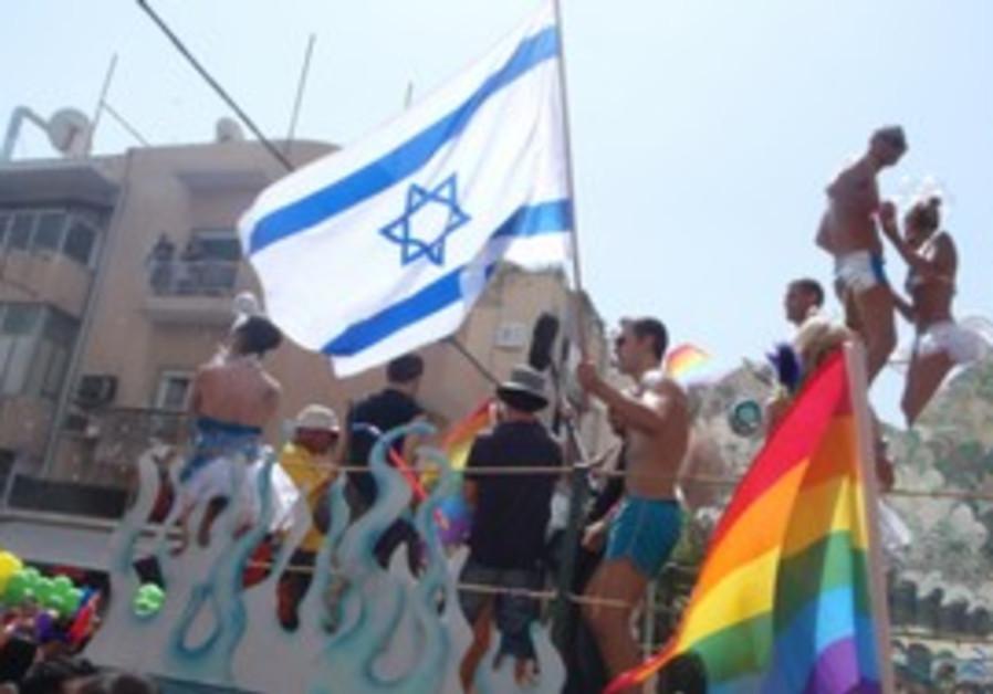 People enjoying the gay pride parade
