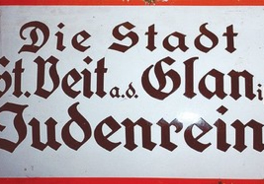 Judenrein sign