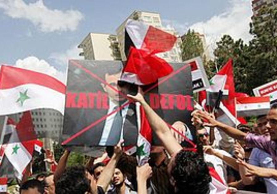 Syrians protest Assad in Turkey