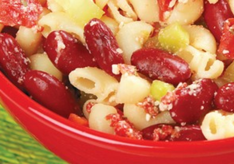 Bean and pasta salad