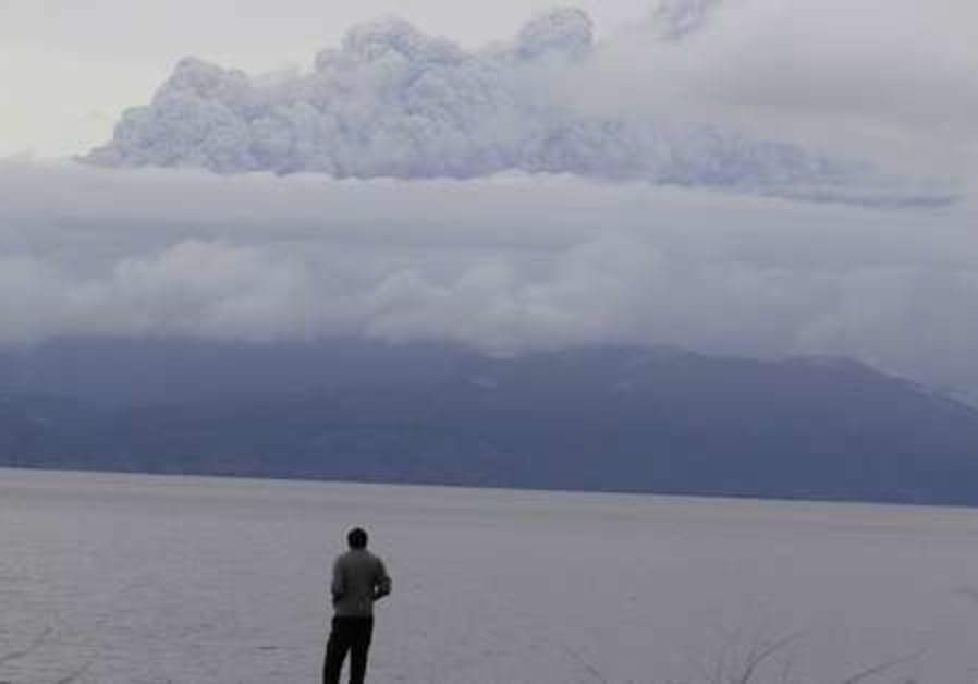 Smoke and ash from Chile volcano