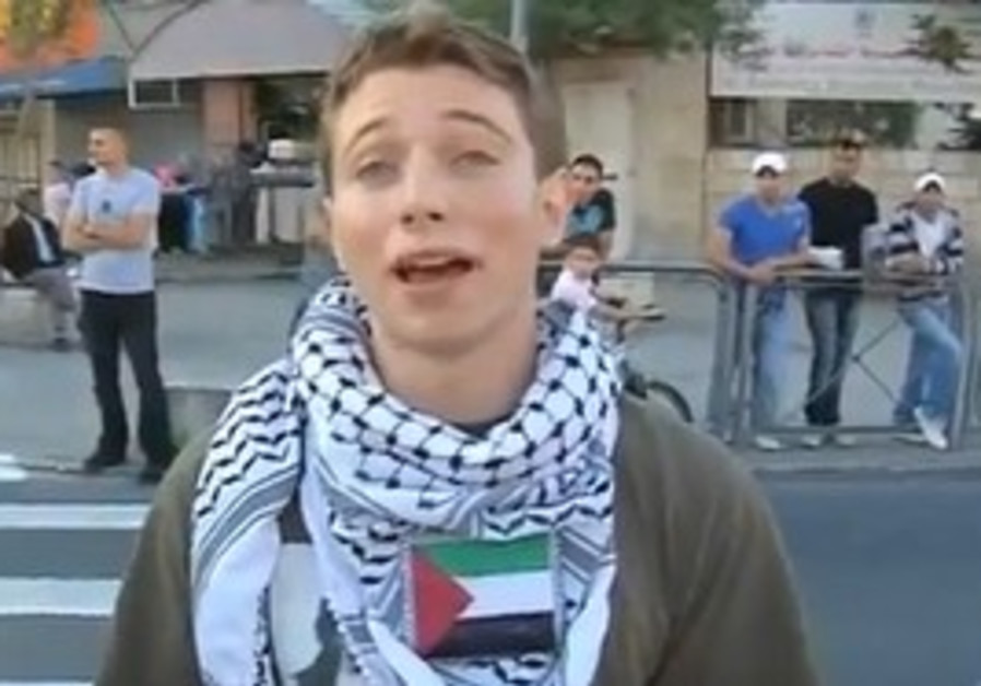 Lucas Koerner arrested during Jerusalem Day.