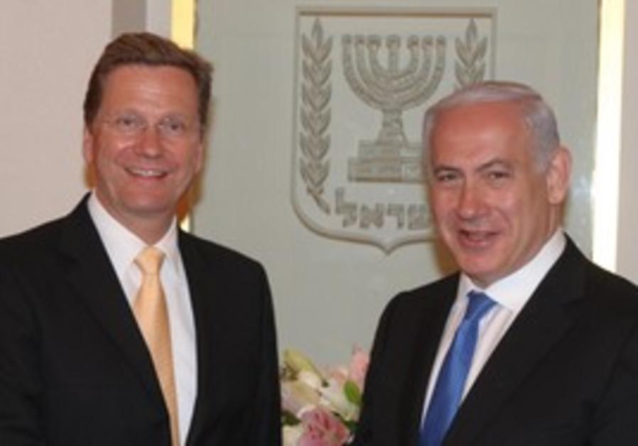 German FM Guido Westerwelle and PM Netanyahu.