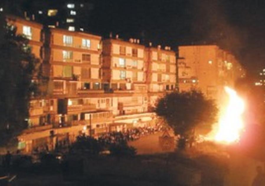 A fire in a Jerusalem haredi neighborhood.