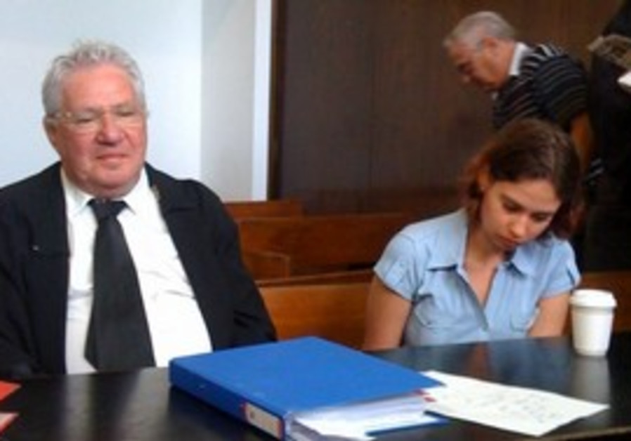 Anat Kamm and her lawyer Avigdor Feldman [file]