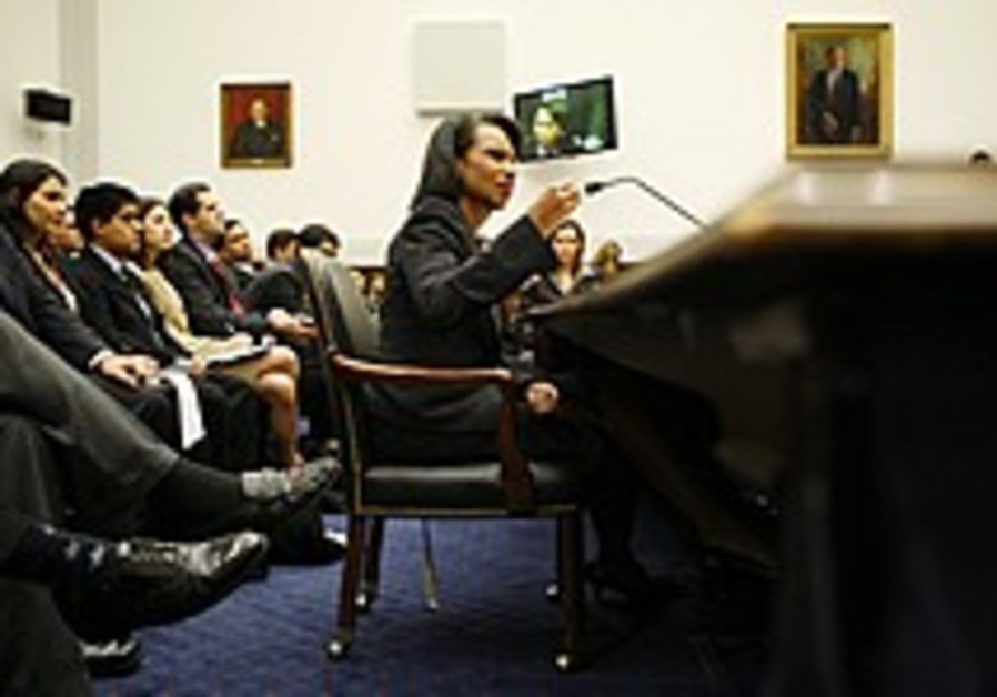 Rice: Two-state solution in jeopardy