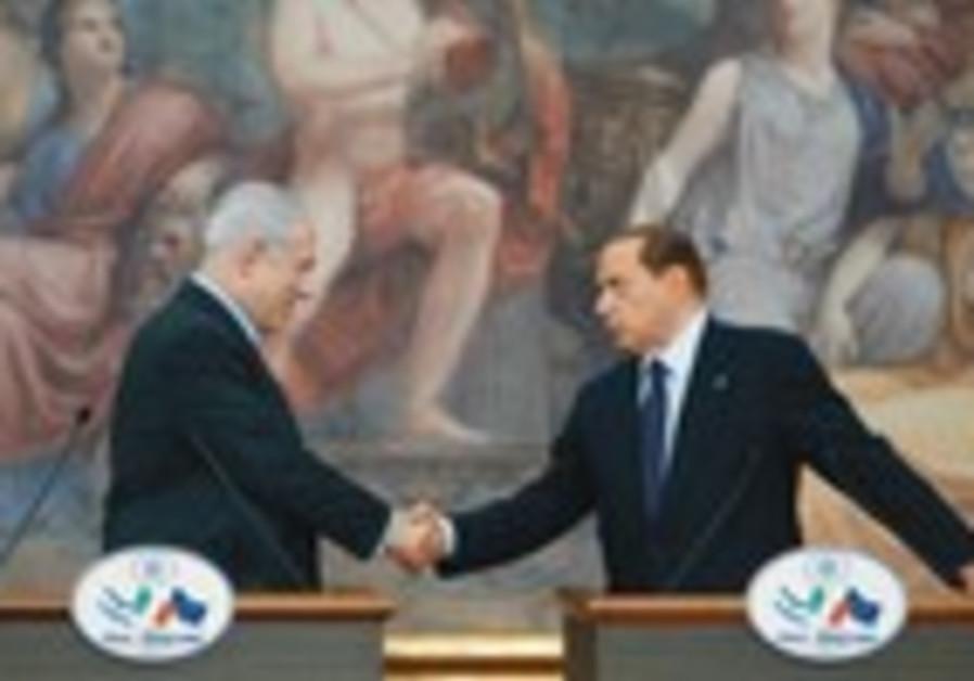 Netanyahu with Berlusconi