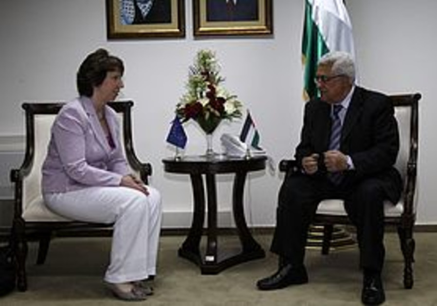 Ashton and Abbas meeting in Ramallah