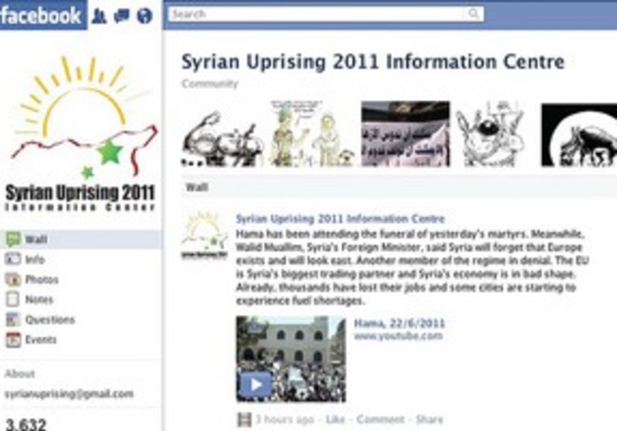 Syria uprising Facebook page