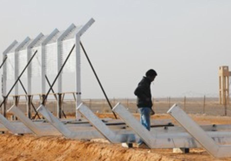 Eritrean laborer at site of Israel Egypt border